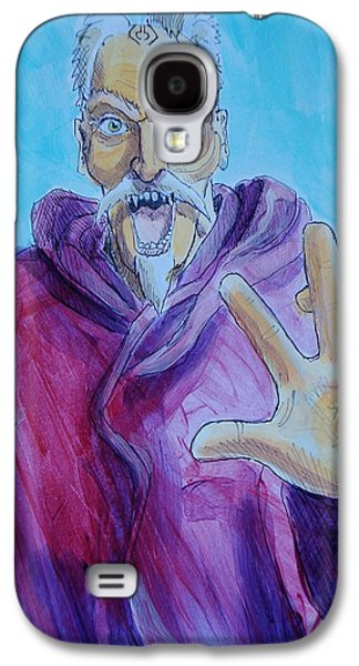 Purple Robe Galaxy S4 Cases - Wizard Galaxy S4 Case by Mike Jory
