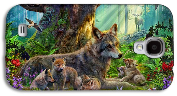 Wolf And Cubs Galaxy S4 Case by Jan Patrik Krasny