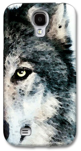 Winter Digital Art Galaxy S4 Cases - Wolf Art - Timber Galaxy S4 Case by Sharon Cummings