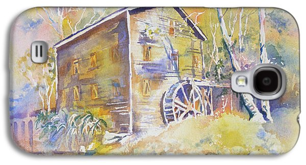 Grist Mill Paintings Galaxy S4 Cases - Wolf Creek Grist Mill Galaxy S4 Case by Mary Haley-Rocks