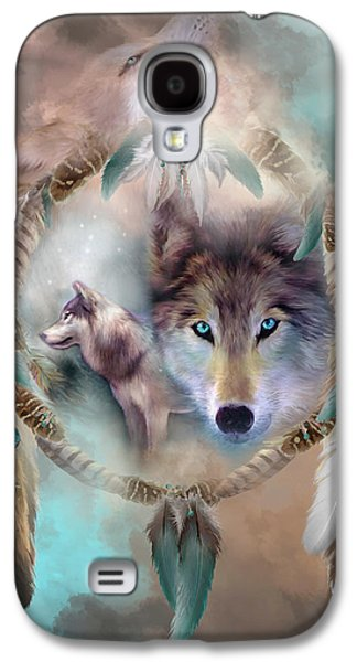 Wolf - Dreams Of Peace Galaxy S4 Case by Carol Cavalaris
