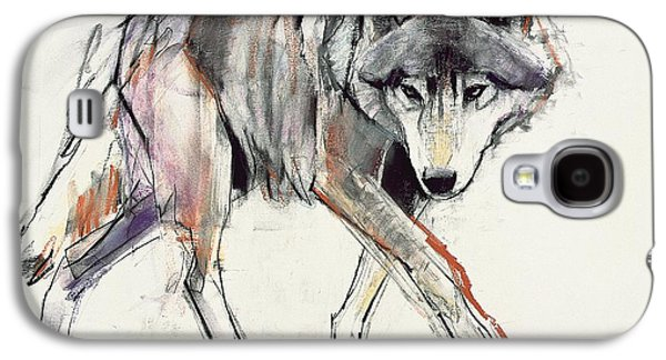 Posters On Paintings Galaxy S4 Cases - Wolf  Galaxy S4 Case by Mark Adlington