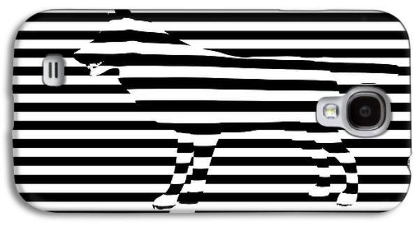 Best Sellers -  - Abstract Digital Digital Galaxy S4 Cases - Wolf optical illusion Galaxy S4 Case by Pixel  Chimp