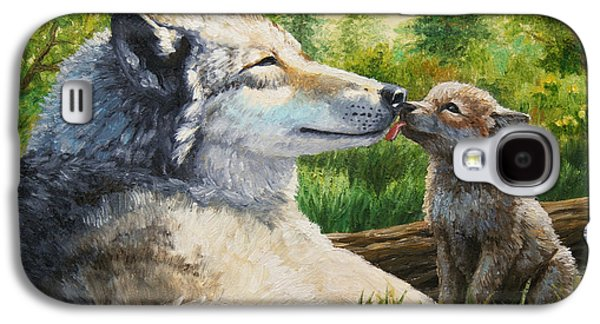 Wolf Painting - Spring Kisses Galaxy S4 Case by Crista Forest