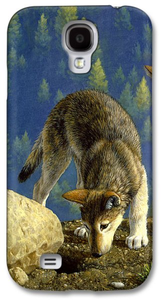 Wolf Pups - Anybody Home Galaxy S4 Case by Crista Forest