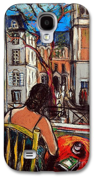 Woman At Window Galaxy S4 Case by Mona Edulesco