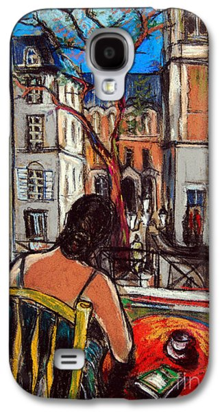 Chair Pastels Galaxy S4 Cases - Woman At Window Galaxy S4 Case by Mona Edulesco