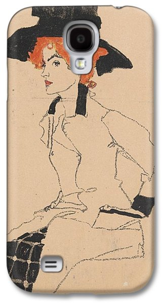 Austria Drawings Galaxy S4 Cases - Woman Drawing Galaxy S4 Case by Celestial Images