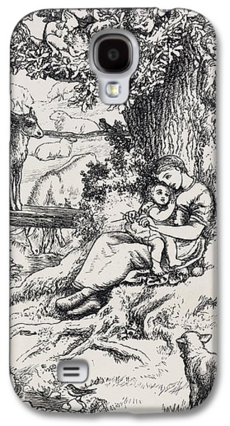 Woman Holding Child Galaxy S4 Case by British Library