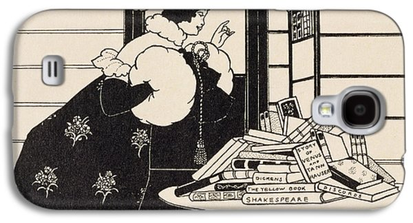 Woman In A Bookshop Galaxy S4 Case by Aubrey Beardsley