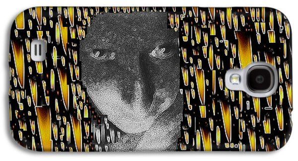 Contemplative Mixed Media Galaxy S4 Cases - Woman In Flames Galaxy S4 Case by Pepita Selles