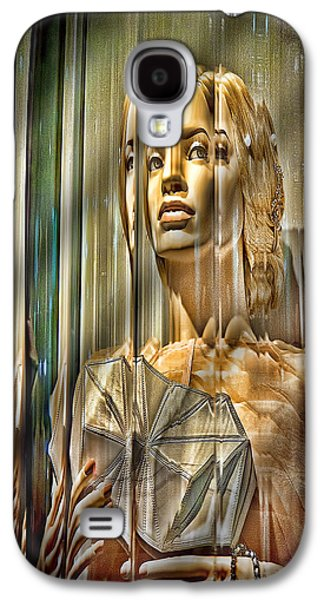 Glass Wall Galaxy S4 Cases - Woman in Glass Galaxy S4 Case by Chuck Staley