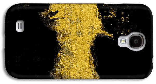 Contemplative Mixed Media Galaxy S4 Cases - Woman in the dark Galaxy S4 Case by Pepita Selles