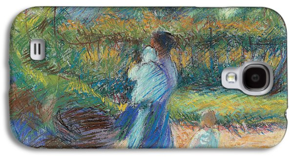 In The Shade Galaxy S4 Cases - Woman in the Garden Galaxy S4 Case by Umberto Boccioni