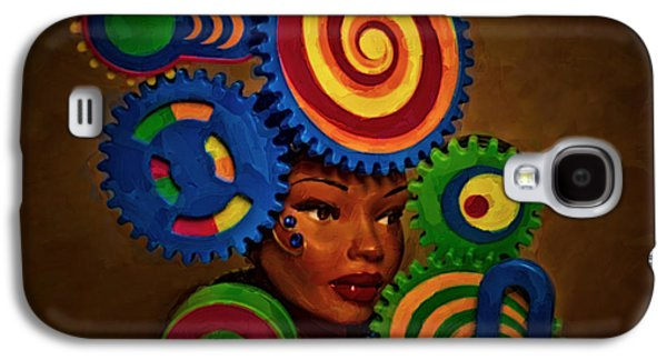 Steampunk Galaxy S4 Cases - Woman Of Colors  Galaxy S4 Case by Jeff  Gettis