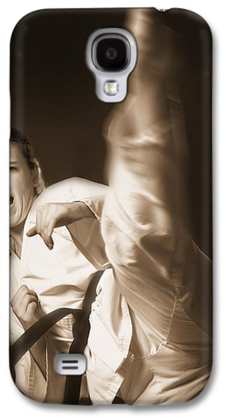 Self Shot Photographs Galaxy S4 Cases - Woman Performing Martial Arts Galaxy S4 Case by Don Hammond