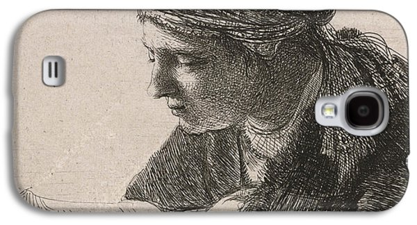 Woman Reading Galaxy S4 Case by Rembrandt