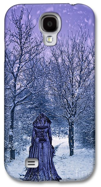 Purple Robe Galaxy S4 Cases - Woman Walking In Snow Galaxy S4 Case by Amanda And Christopher Elwell
