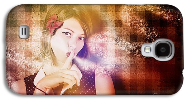 Woman Whispering A Magical Secret Galaxy S4 Case by Jorgo Photography - Wall Art Gallery