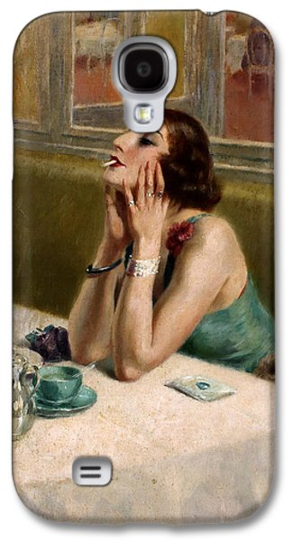 Prostitution Paintings Galaxy S4 Cases - Woman with a Cigarette Galaxy S4 Case by Henri Thomas