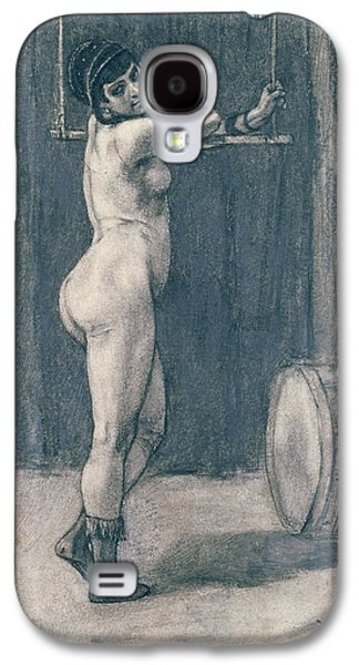Nudes Pastels Galaxy S4 Cases - Woman with a trapeze Galaxy S4 Case by Felicien Rops