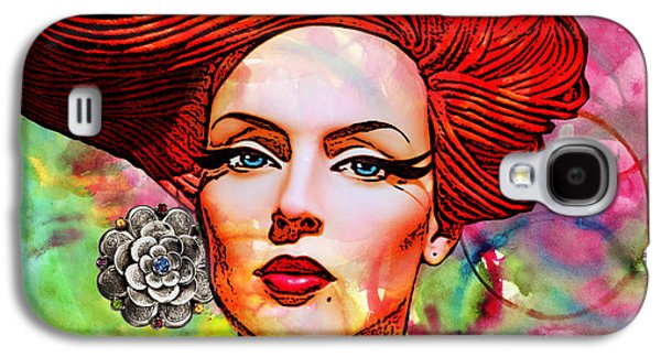 Person Mixed Media Galaxy S4 Cases - Woman With Earring Galaxy S4 Case by Chuck Staley