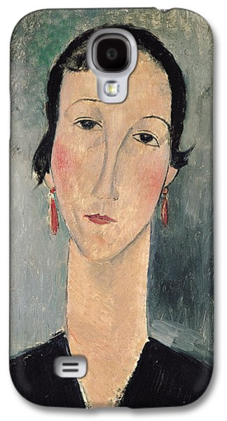 Woman With Earrings Galaxy S4 Case by Amedeo Modigliani