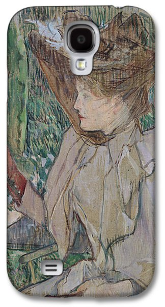 Portraiture Drawings Galaxy S4 Cases - Woman with Gloves Galaxy S4 Case by Henri de Toulouse-Lautrec