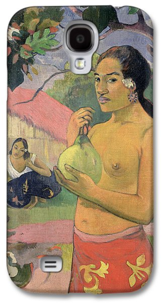 Woman With Mango Galaxy S4 Case by Paul Gauguin