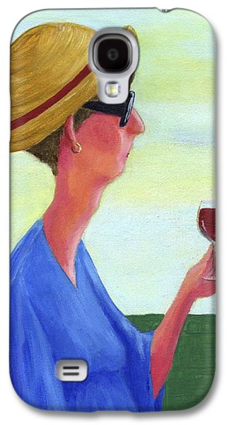 Women Tasting Wine Galaxy S4 Cases - Woman With Wine Galaxy S4 Case by Theresa Johnson
