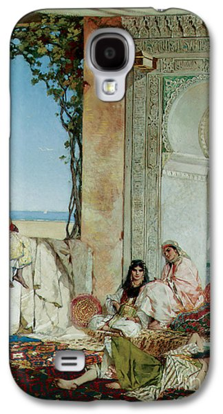 Orientalists Galaxy S4 Cases - Women of a Harem in Morocco Galaxy S4 Case by Jean Joseph Benjamin Constant
