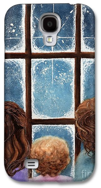 Snowy Night Night Galaxy S4 Cases - Wonder of the Night Galaxy S4 Case by Janine Riley