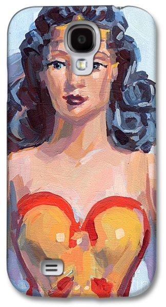 Wonder Woman Galaxy S4 Case by Kimberly Santini