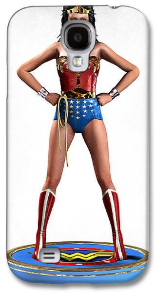 Frederico Borges Galaxy S4 Cases - Wonder Woman Retro Galaxy S4 Case by Frederico Borges