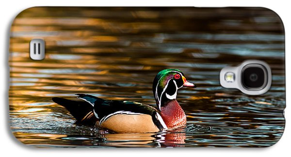 Transportation Photographs Galaxy S4 Cases - Wood Duck At Morning Galaxy S4 Case by Robert Frederick