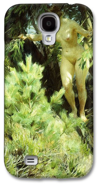 Person Galaxy S4 Cases - Wood-Sprite Galaxy S4 Case by Anders Leonard Zorn
