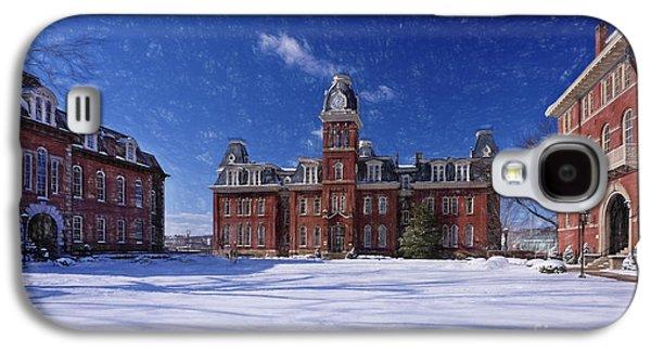Dan Friend Galaxy S4 Cases - Woodburn Hall in snow strom Paintography Galaxy S4 Case by Dan Friend