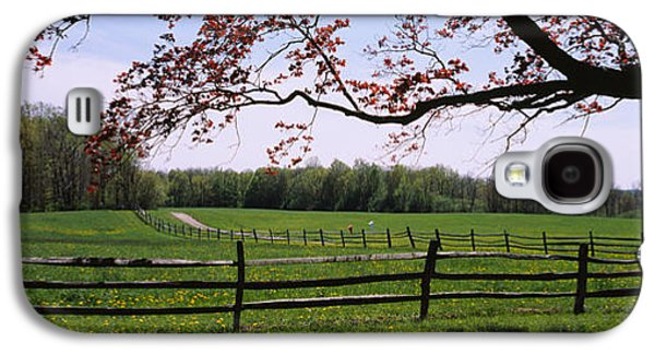 Separation Galaxy S4 Cases - Wooden Fence In A Farm, Knox Farm State Galaxy S4 Case by Panoramic Images