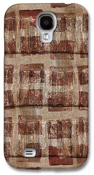 Earth Tones Galaxy S4 Cases - Wooden Paper Galaxy S4 Case by Carol Leigh