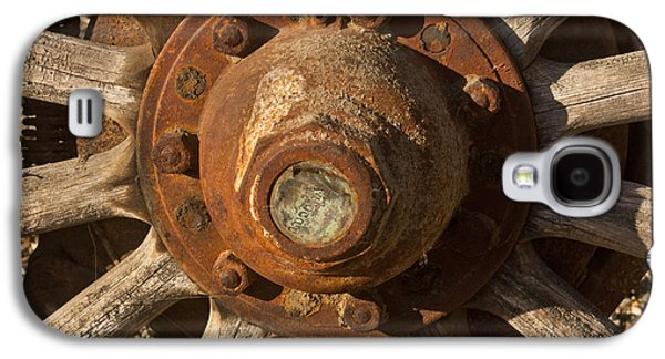 Wooden Wagons Galaxy S4 Cases - Wooden Wagon Wheel Galaxy S4 Case by Art Block Collections