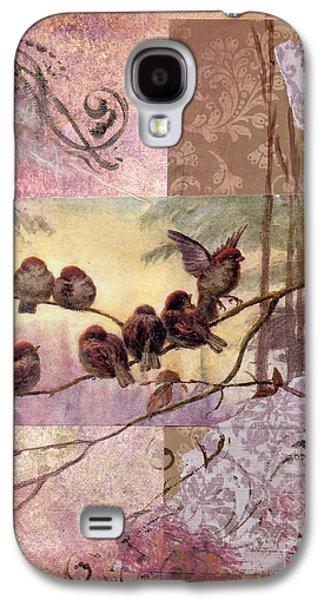 Nature Study Mixed Media Galaxy S4 Cases - Woodland Flight Galaxy S4 Case by Tamyra Crossley