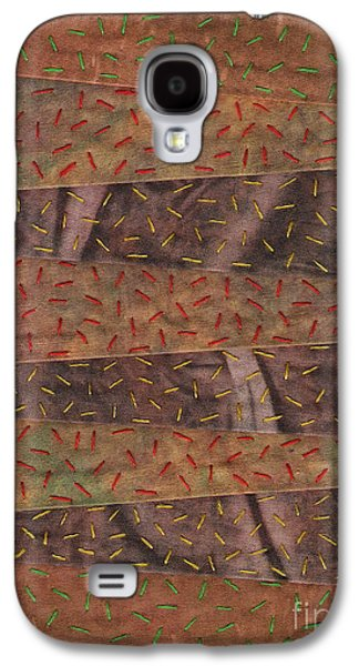 Block Quilts Tapestries - Textiles Galaxy S4 Cases - Woodland Quilt Block Galaxy S4 Case by David K Small