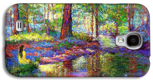 Park Scene Galaxy S4 Cases - Woodland Rapture Galaxy S4 Case by Jane Small