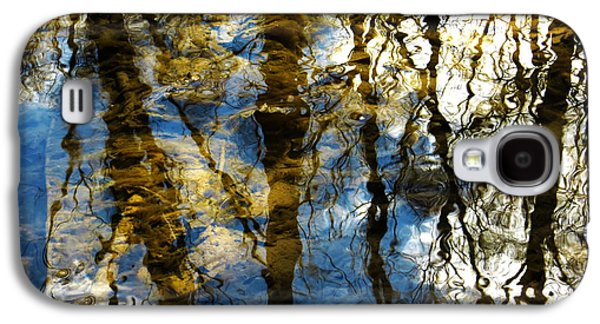 Trees Reflecting In Creek Galaxy S4 Cases - Woodland Reflections Galaxy S4 Case by Shawna  Rowe