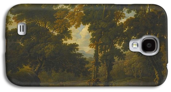 Woodlands Scene Paintings Galaxy S4 Cases - Woodland Scene With A Horseman Galaxy S4 Case by George Barret