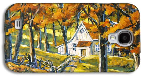 Canadiens Paintings Galaxy S4 Cases - Woodland Sugar Shack by Prankearts Galaxy S4 Case by Richard T Pranke