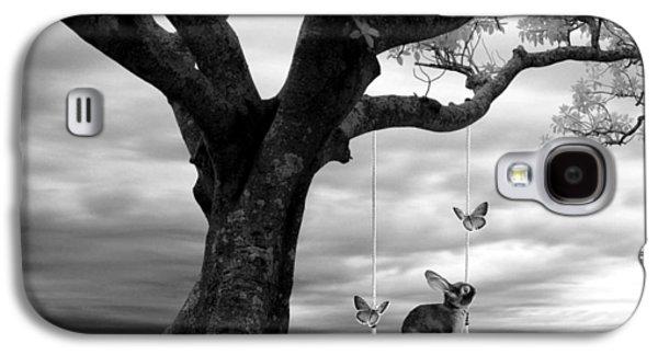 Photo Manipulation Mixed Media Galaxy S4 Cases - Woodland Swing 2 Galaxy S4 Case by Sharon Lisa Clarke