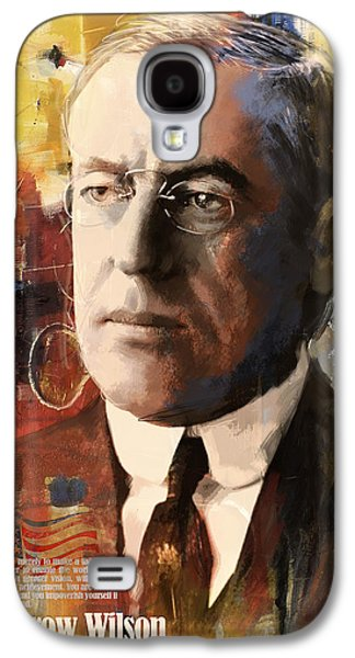 James Buchanan Galaxy S4 Cases - Woodrow Wilson Galaxy S4 Case by Corporate Art Task Force