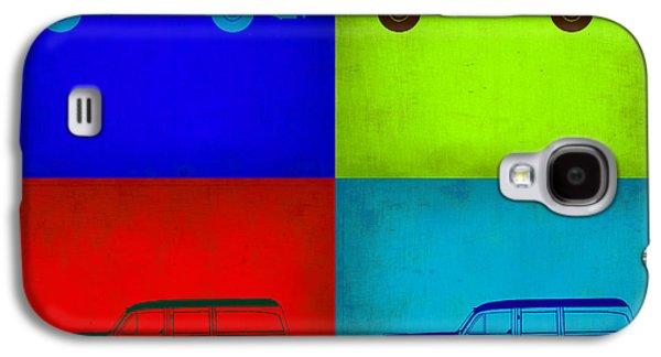 Concept Mixed Media Galaxy S4 Cases - Woody Wagon Pop Art 1 Galaxy S4 Case by Naxart Studio