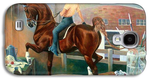American Paintings Galaxy S4 Cases - Work In Progress II Galaxy S4 Case by Jeanne Newton Schoborg